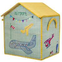 Airport Themed Raffia Toy Basket By Rice DK